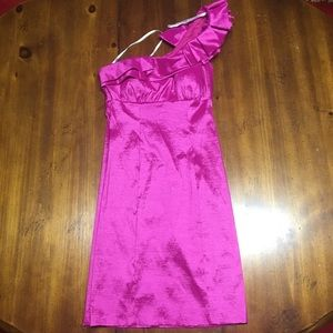 Snap Brand Off Shoulder Fuchsia Dress Size 3